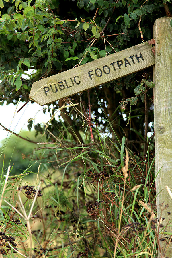 Footpath Photograph - Go West by Paul Lilley