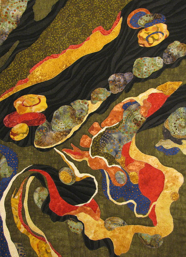 Art Quilts Tapestries Textiles Tapestry - Textile - Go With The Flow by Lynda K Boardman