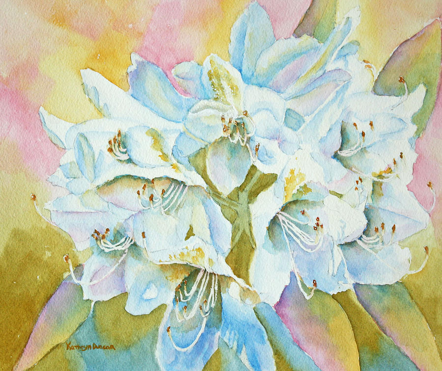 Flowers Painting - Go With The Glow by Kathryn Duncan