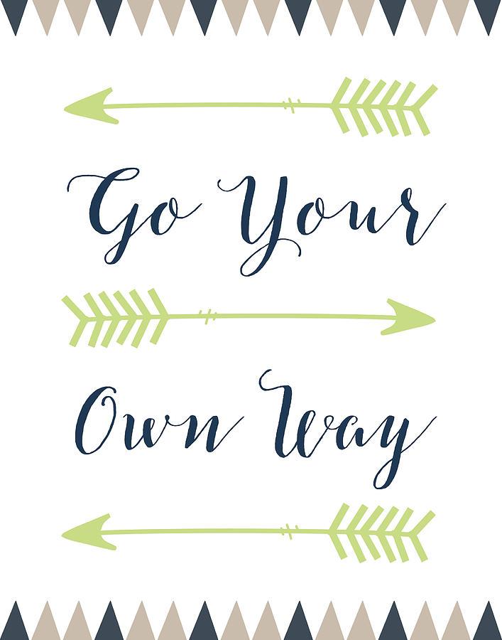 Go Your Own Way Cursive