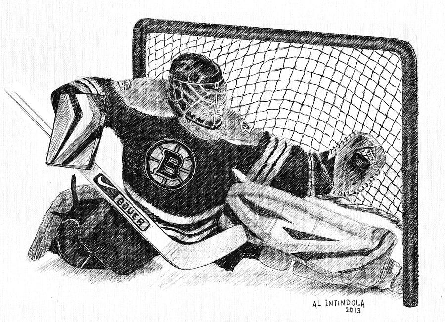 Goalie Drawing By Al Intindola