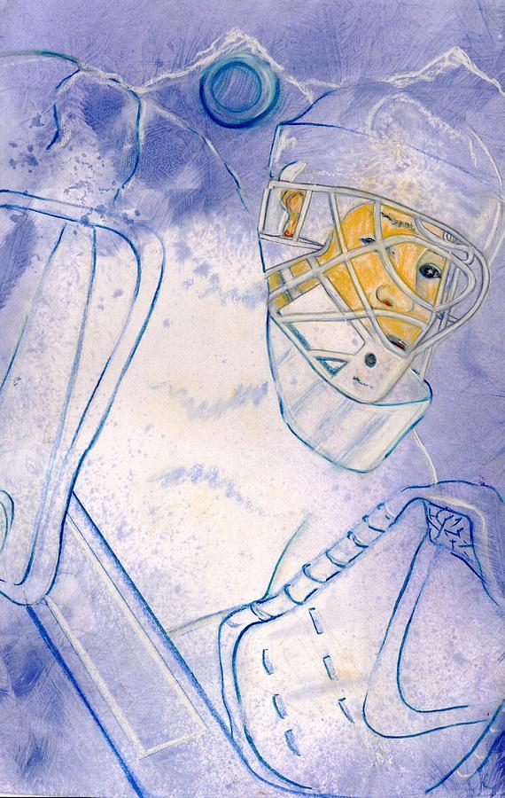 Hockey Goalie Painting - Goalie Missed by Rosemary Hayes