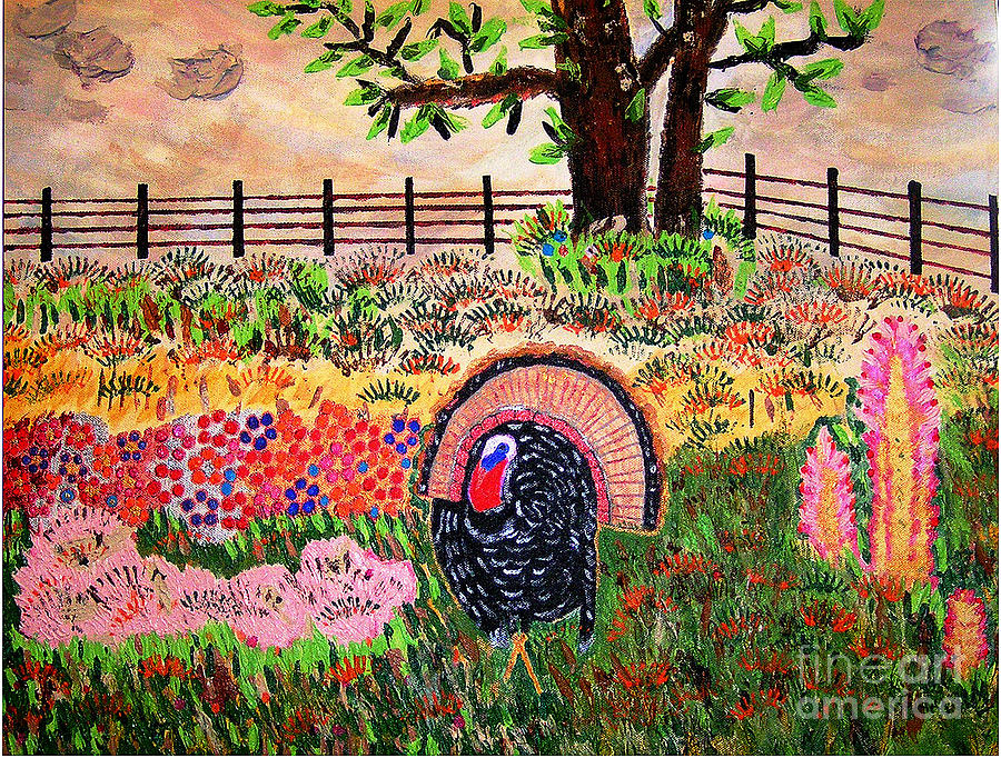 Turkey Painting - Gobble Gobble by Robyn Louisell