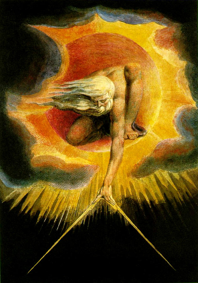 Romanticism Painting - God As Architect  by William Blake