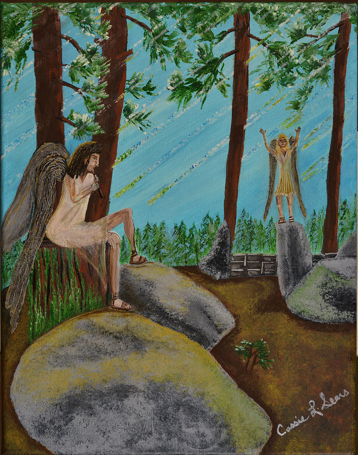 Sears Painting - God Calls His Angels by Cassie Sears