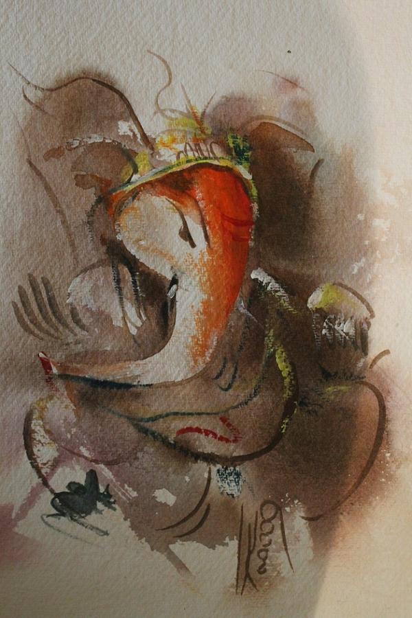 Paintings Painting - God Ganesha 86465 by Sir