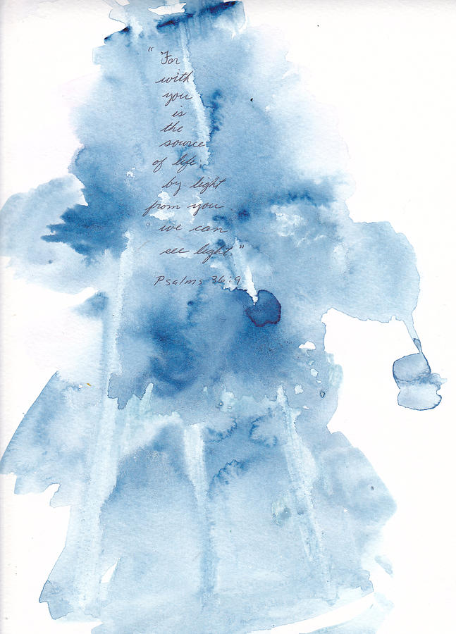 Watercolor Painting - God Gives Us Life And Light by B L Qualls