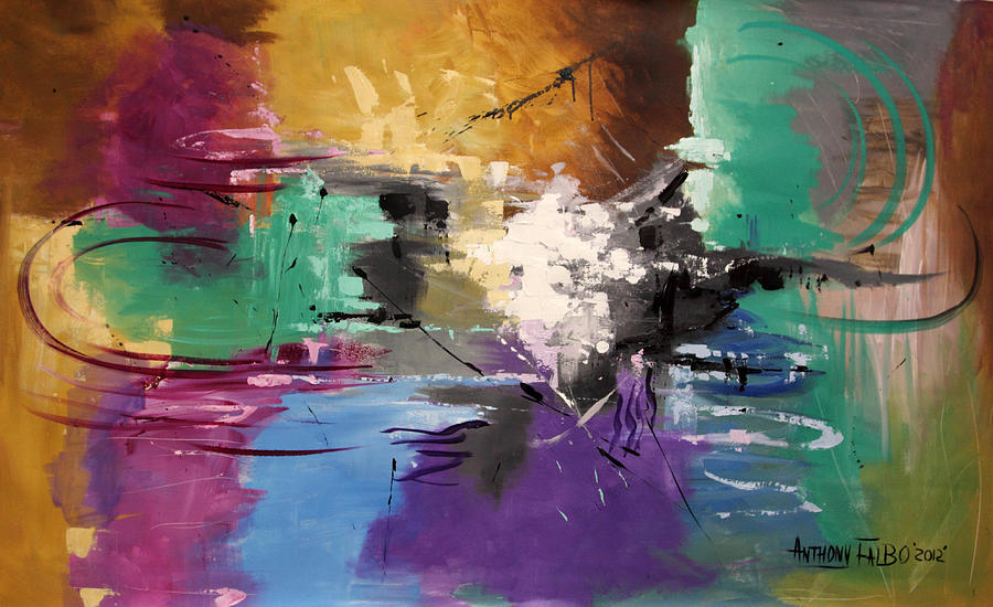 Abstract Painting - God Is Love by Anthony Falbo