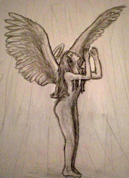 Nude Drawing - God Shower by Steve Spagnola