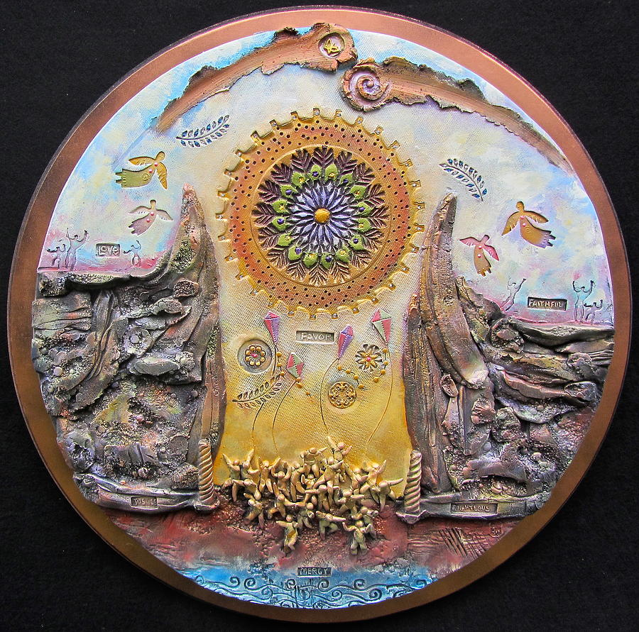 Religious Ceramic Art - God Will Make A Way by Gary Wilson