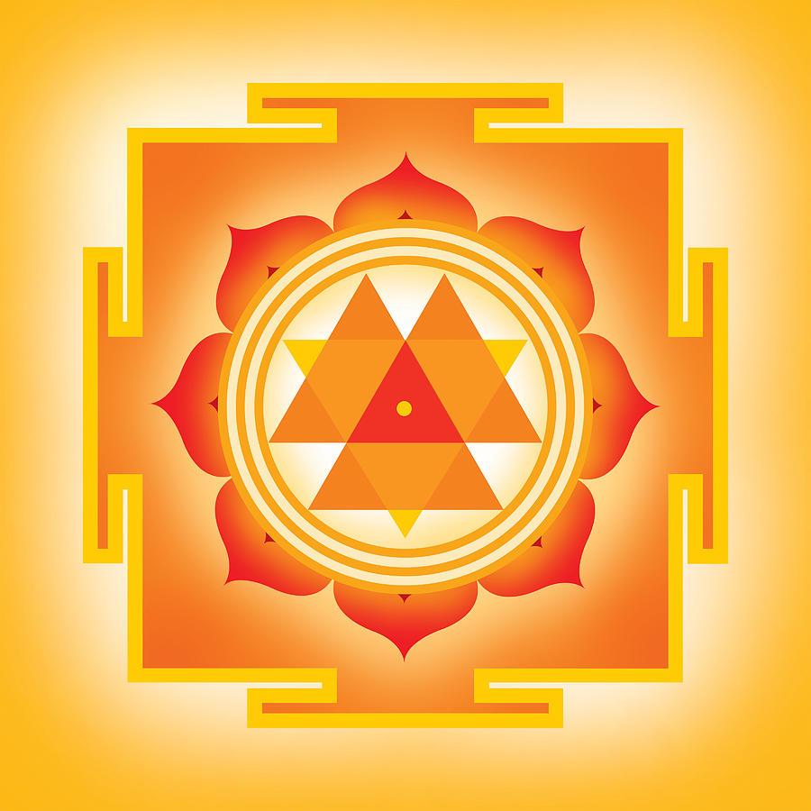 Yantra Digital Art - Goddess Durga Yantra by Soulscapes - Healing Art