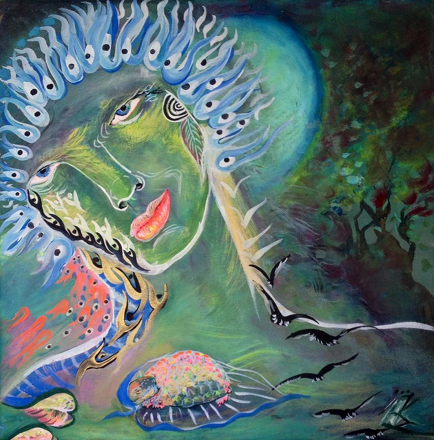 Goddess Painting - Goddess by Michaela Kraemer