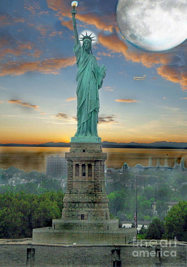 Statue Photograph - Goddess Of Freedom by Gary Keesler