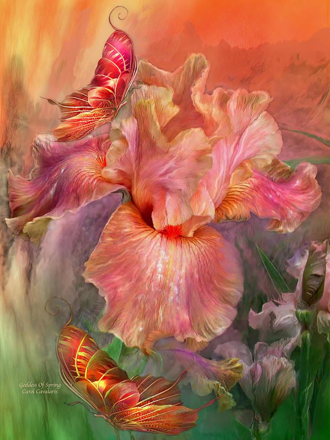 Iris Mixed Media - Goddess Of Spring by Carol Cavalaris