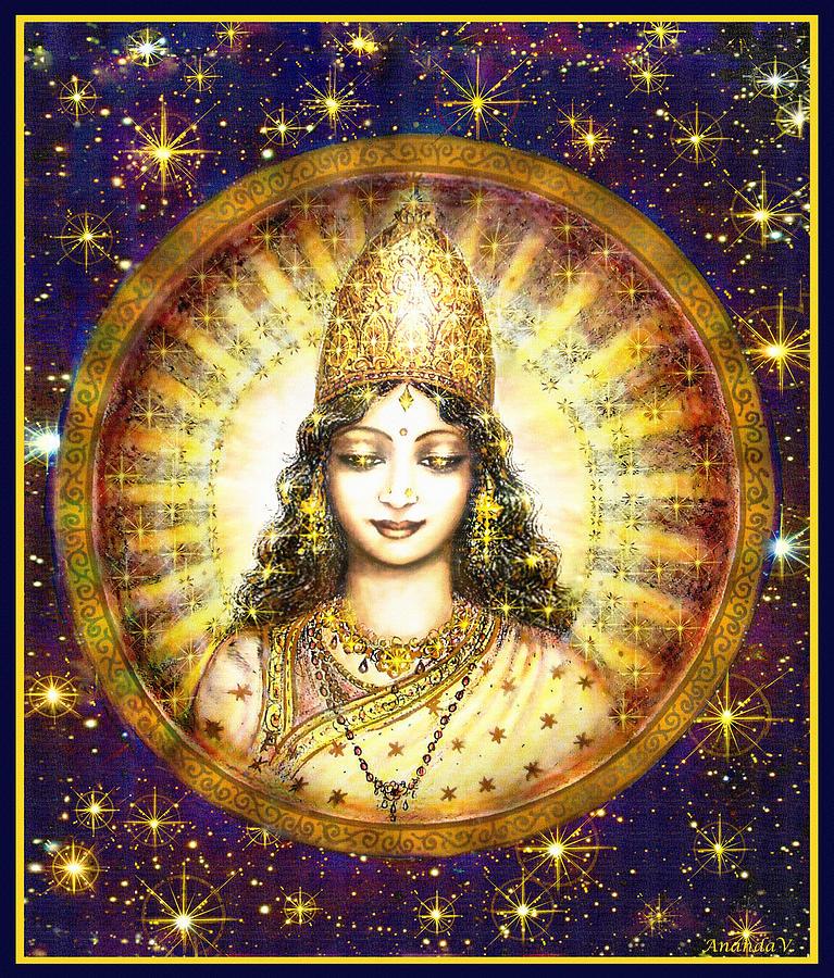 Goddess Painting Mixed Media - Goddess Of Stars by Ananda Vdovic
