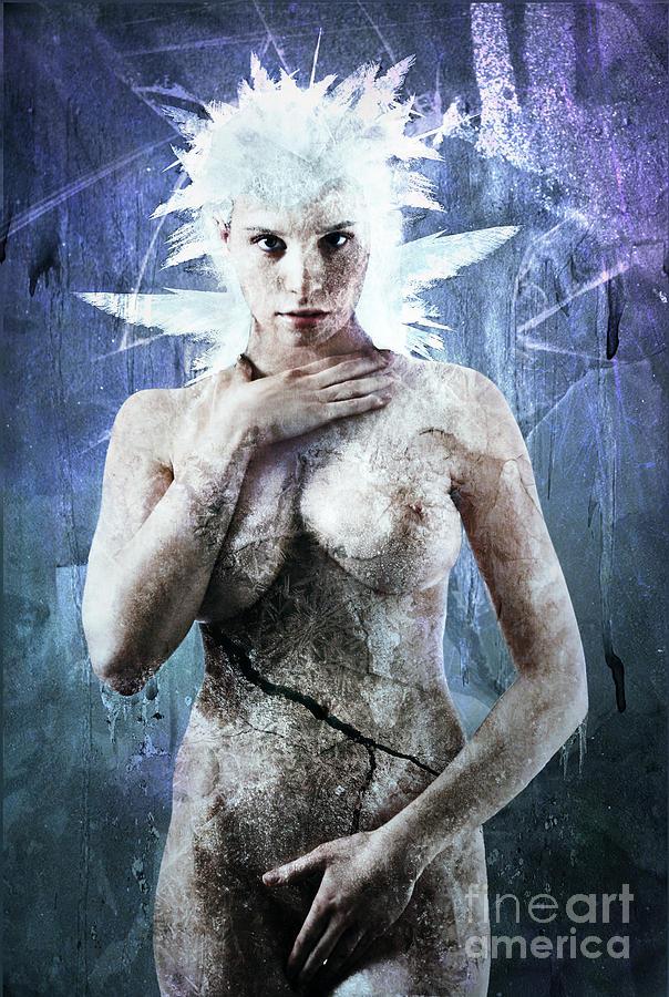 Elsa Digital Art - Goddess Of Water by Michael Volpicelli