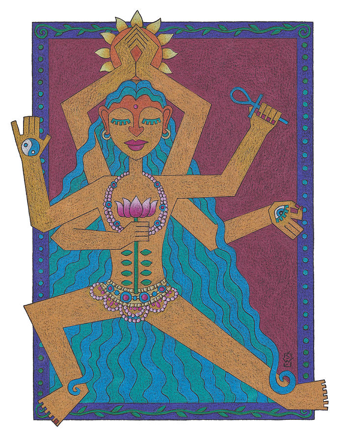 Goddess Drawing - Goddess Of Well-being by Sharon Woodward