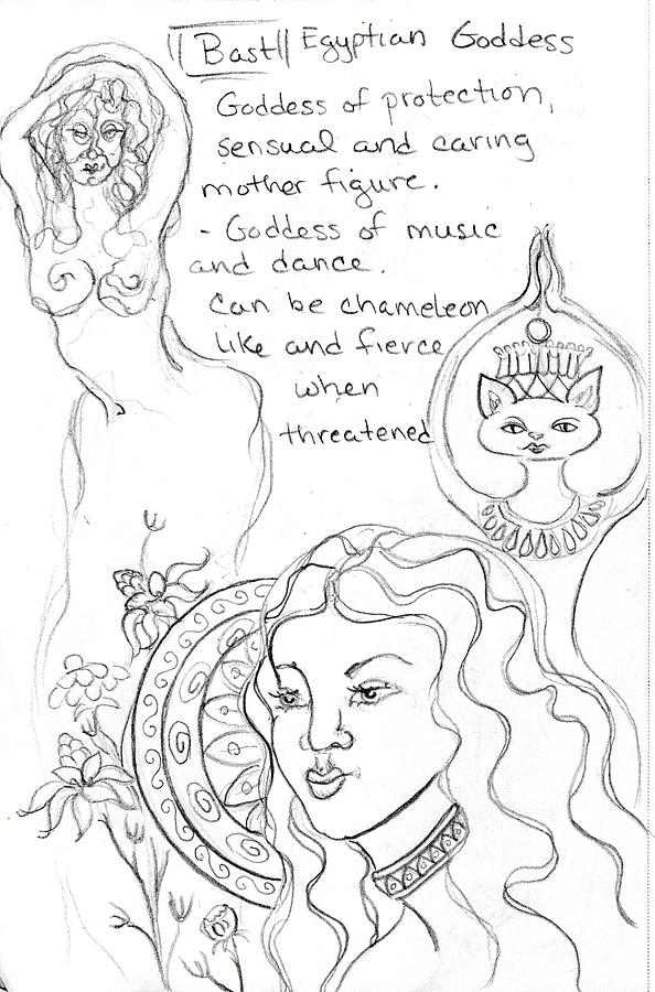 goddess sketch 28 by Suzan  Sommers