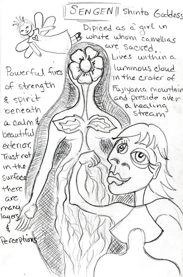 goddess sketch 29 by Suzan  Sommers
