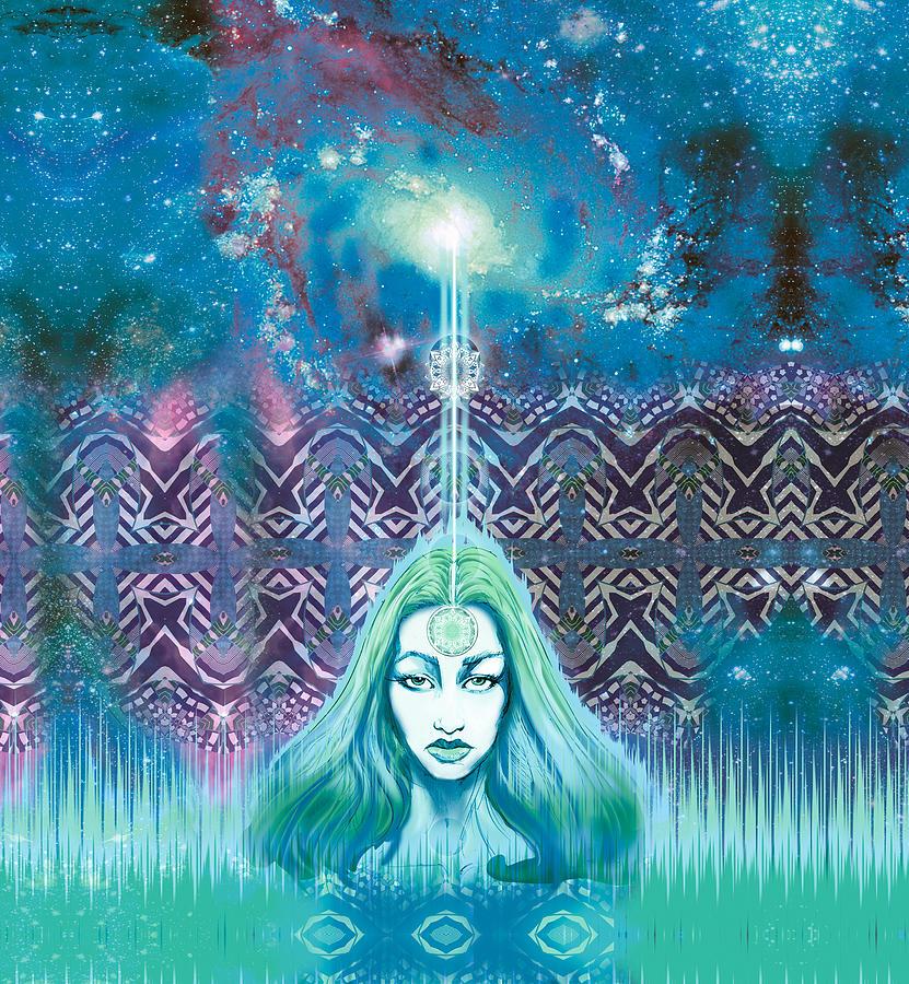 Godess Wisdom Mixed Media by Thomas Ambrose DENNEY