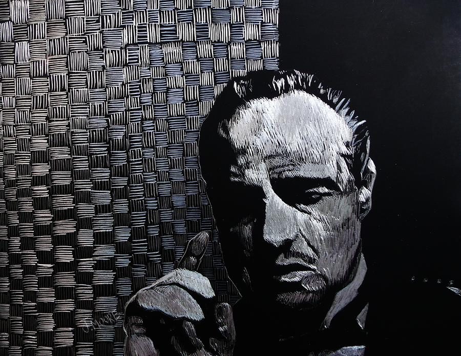Godfather Drawing - Godfather by Jeremy Moore