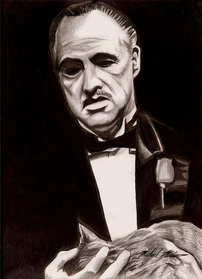 Godfather Drawing - Godfather by Michael Mestas