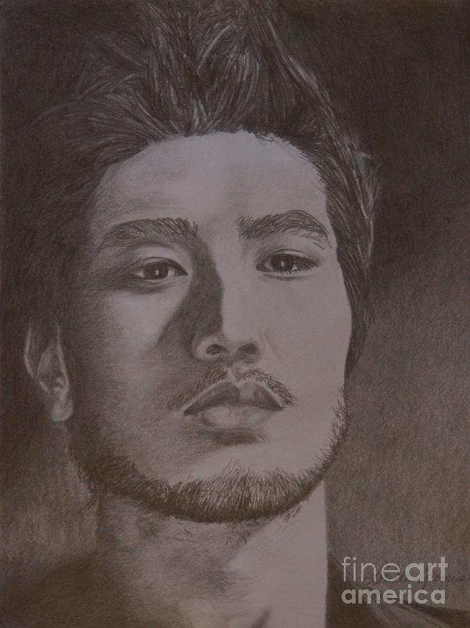 Model Drawing - Godfrey Gao by Lorelle Gromus