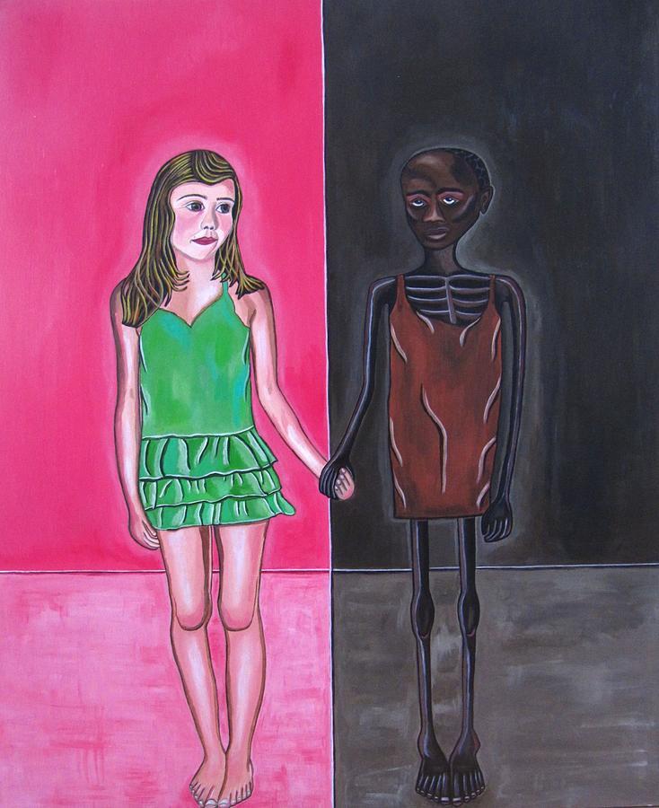 Child Painting - Gods Children by Sandra Marie Adams