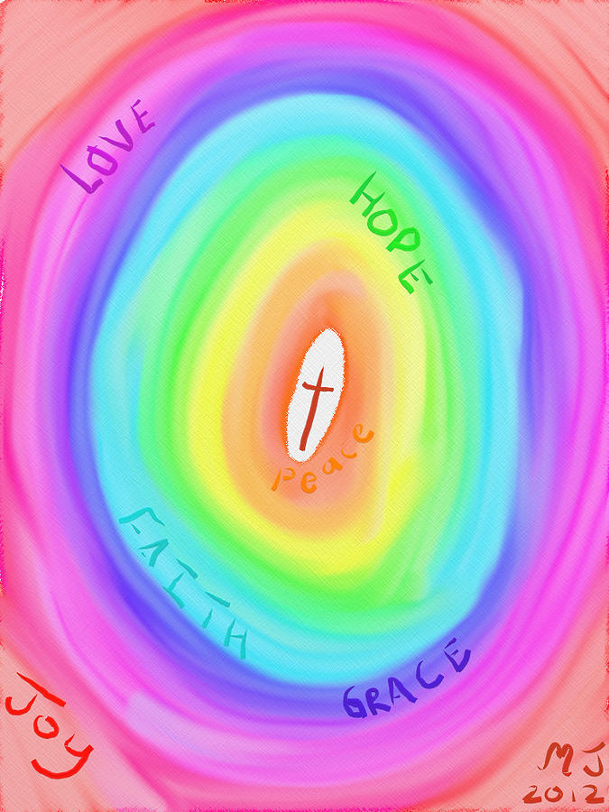 Love Digital Art - Gods Colours by Michael Jordan