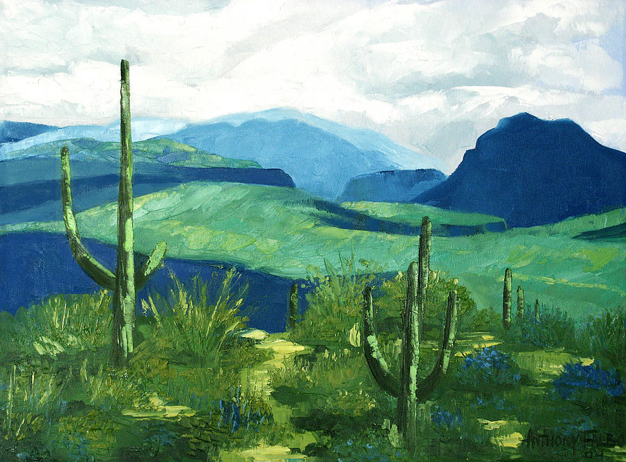 Cactus Painting - Gods Country by Anthony Falbo