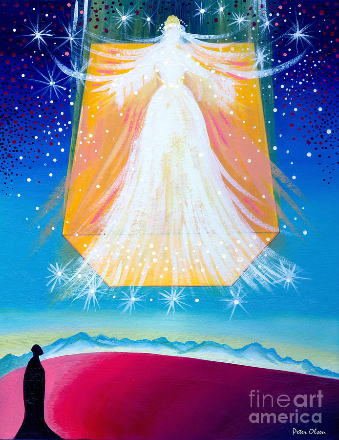 New Jerusalem Painting - Gods Dwelling Place by Peter Olsen