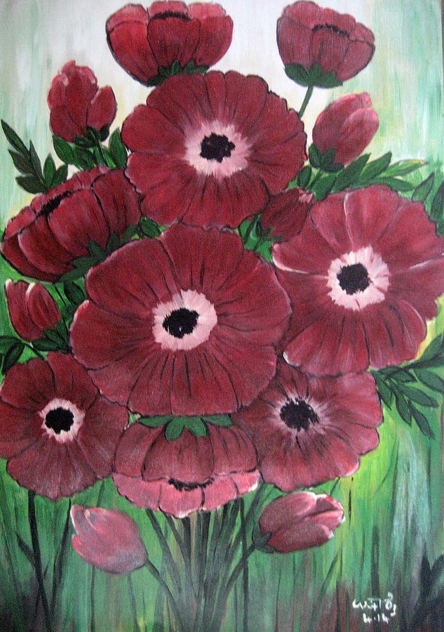 Flowers Painting - Gods Gift by Usha Rai