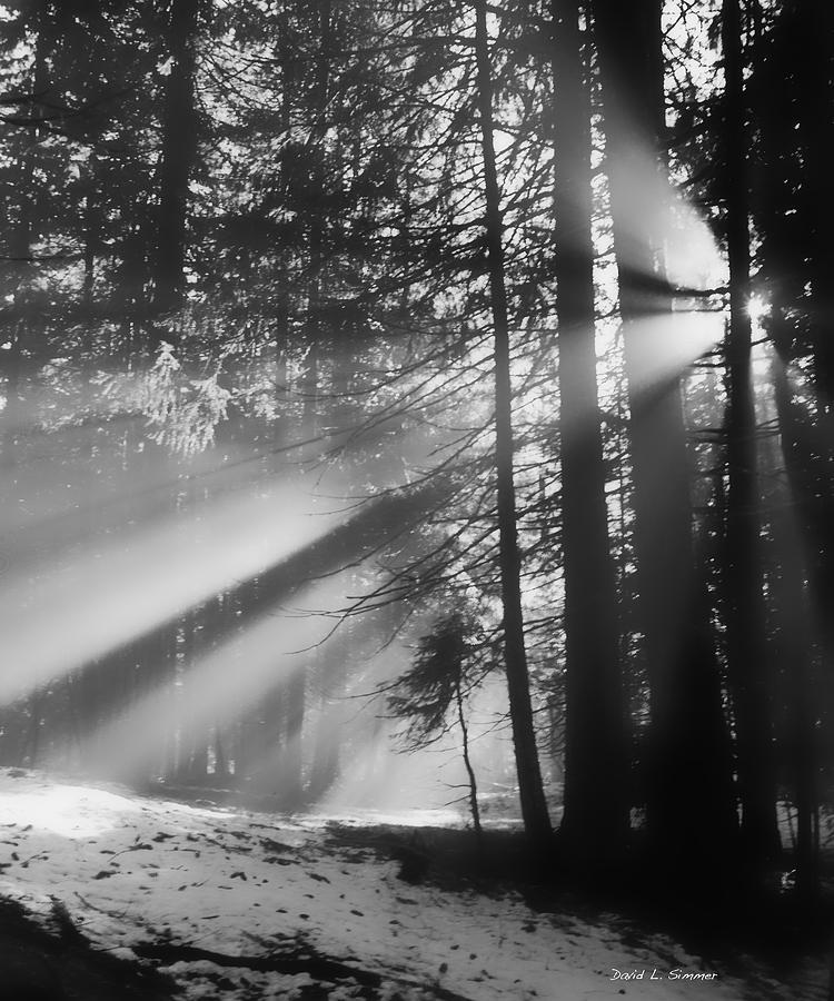 Landscape Photograph - Gods Light by David Simmer