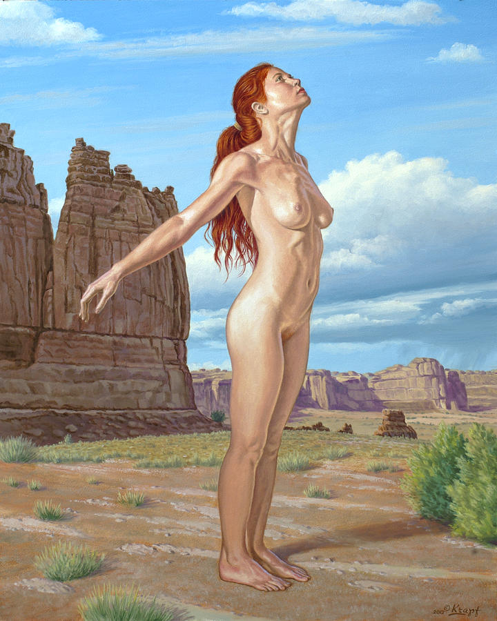 Figure Painting - Gods Lovely Designs by Paul Krapf