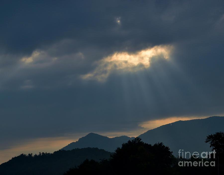 Sky Photograph - Gods Morning Rays by Eva Thomas