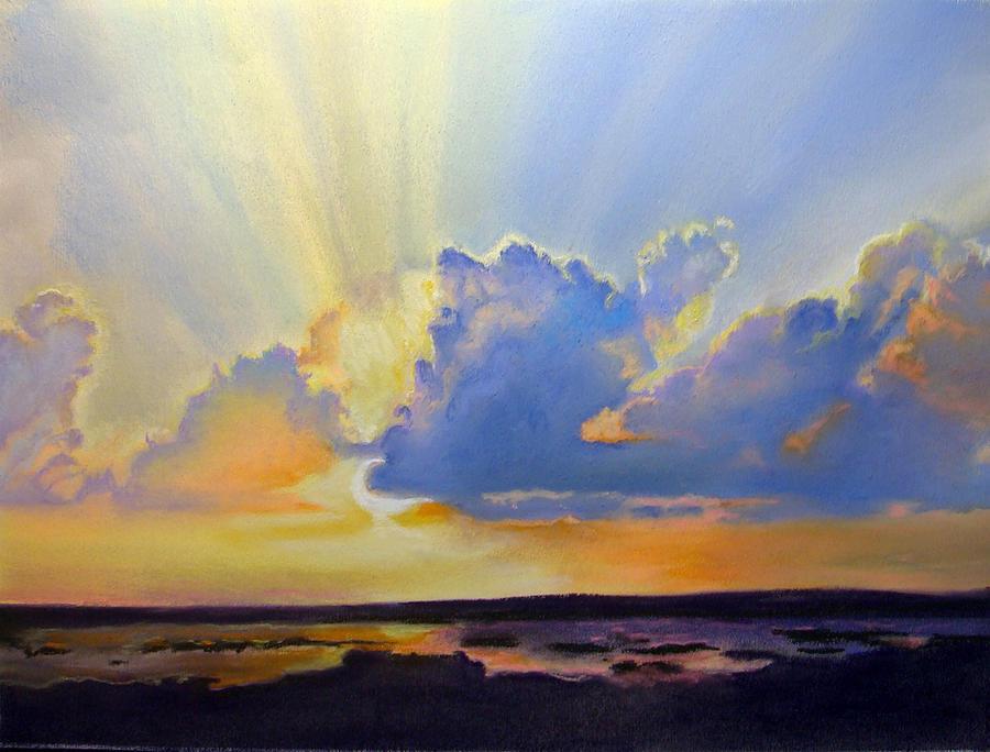 Landscape Pastel - Gods Paint Brush by Lamarr Kramer