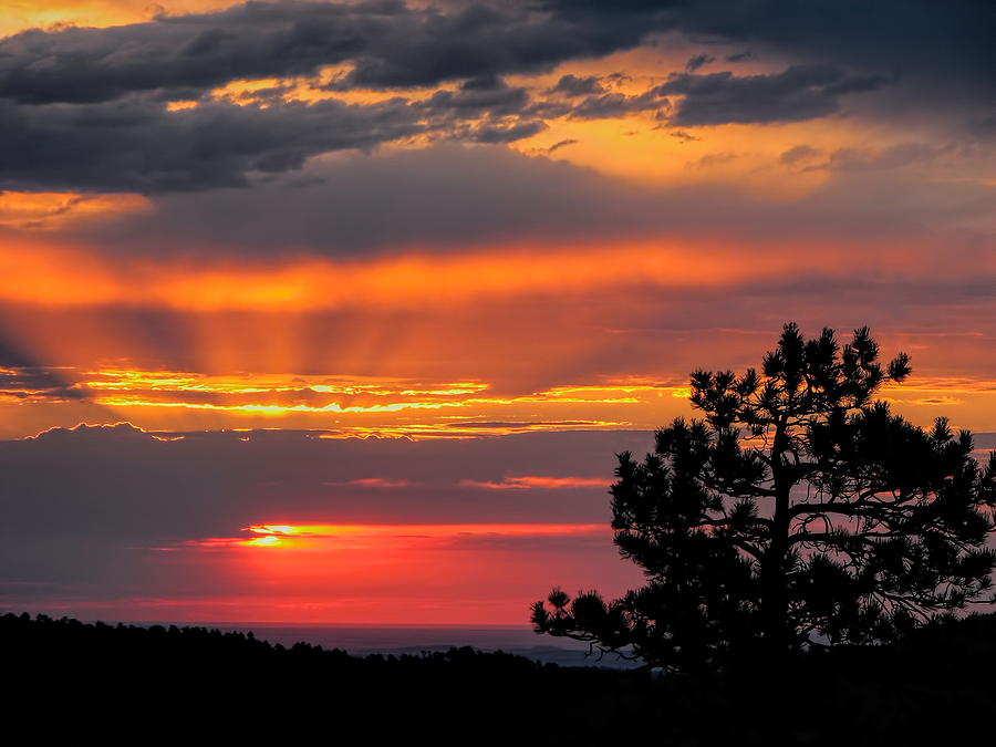 God's Spotlight Over Keystone by Dale Kauzlaric