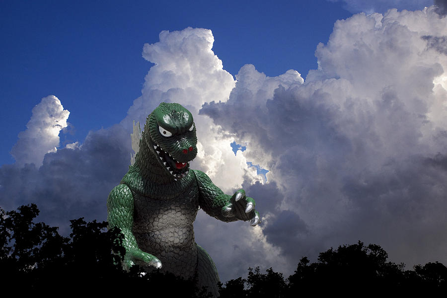 Godzilla Photograph - Godzilla Attacks by William Patrick