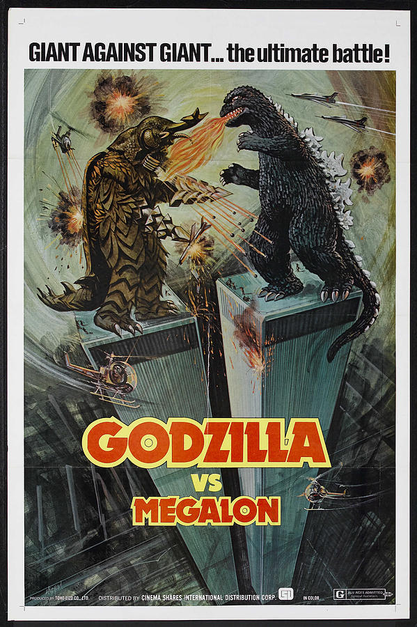 Movie Photograph - Godzilla vs Megalon Poster by Gianfranco Weiss