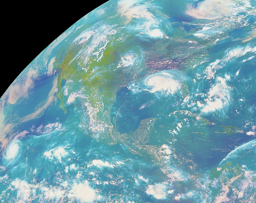 North America Photograph - Goes Image Of North & Central America by Nasa/science Photo Library