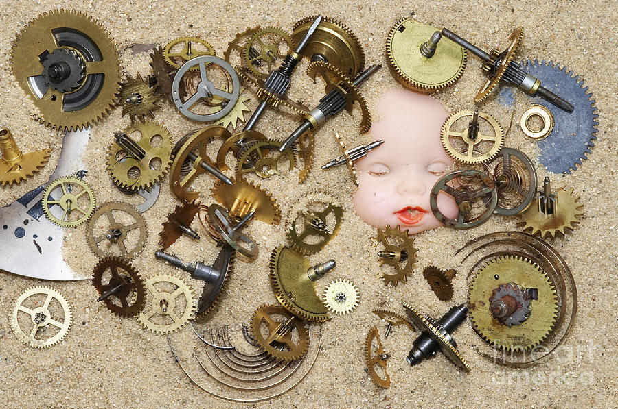 Clockwork Photograph - Gof Of Time by Michal Boubin