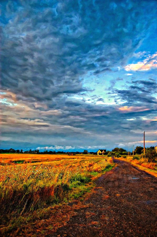 Farm Photograph - Goin Home Oil by Steve Harrington
