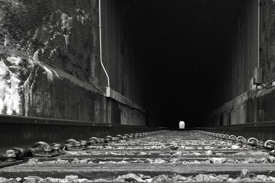 Train Photograph - Goin Through by Tommy Wallace