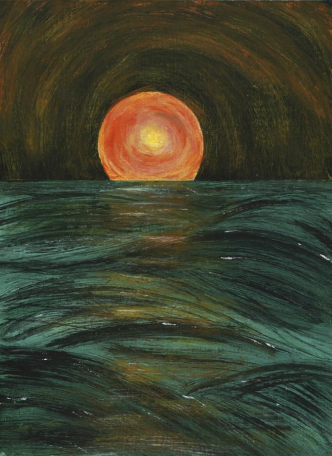 Sea Painting - Going Down by Susan Sadoury