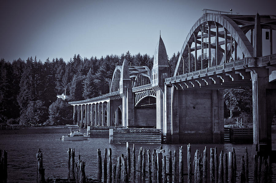 Bridge Photograph - Going Fishing by Michael Connor