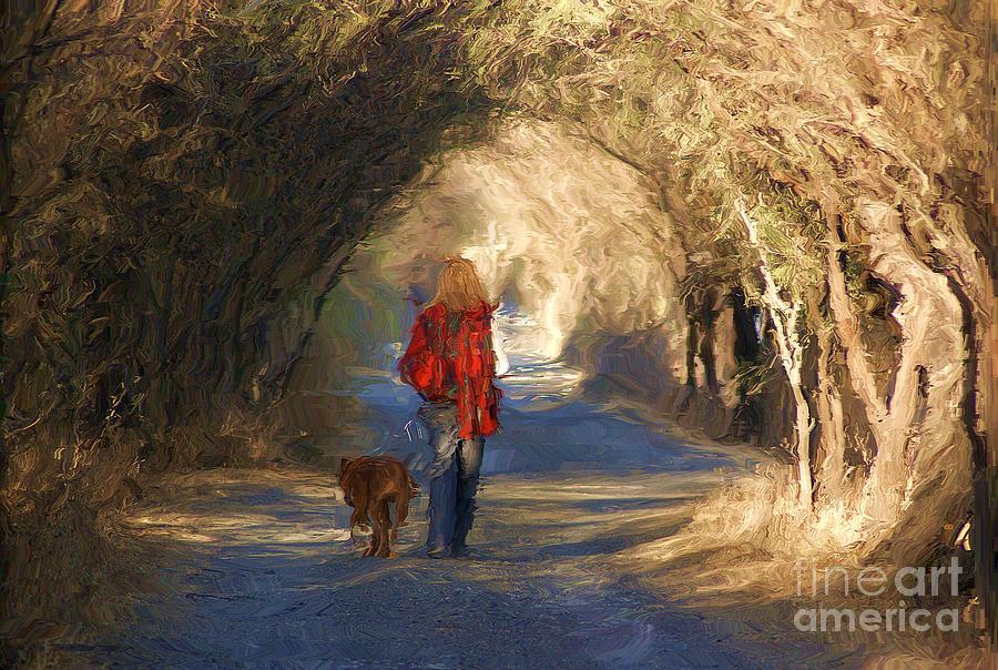 Dog Photograph - Going For A Walk by John  Kolenberg