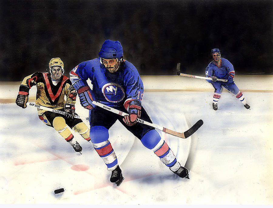 Sports Painting - Going For It by Todd Spaur