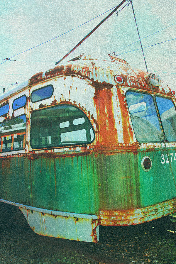 Green Trolley Photograph - Going Green by Sheryl Bergman