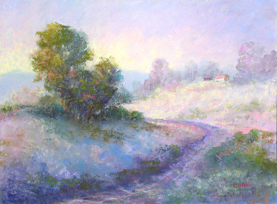 Pastel Landscape Painting - Going Home by Christine Bass