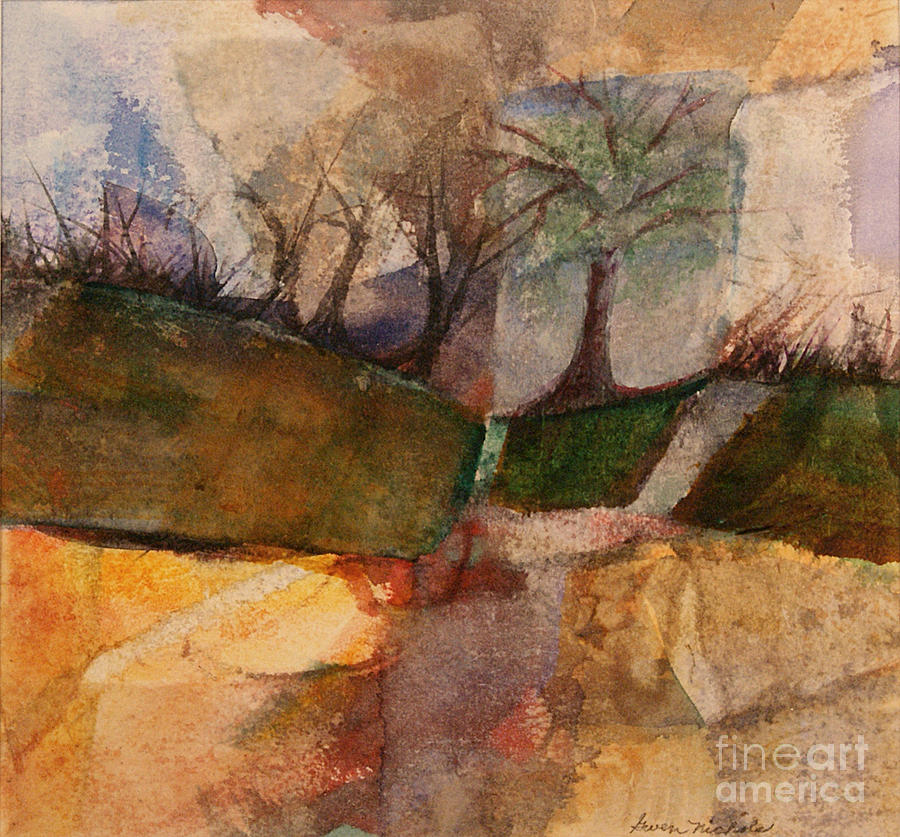 Watercolor Painting - Going Home by Gwen Nichols